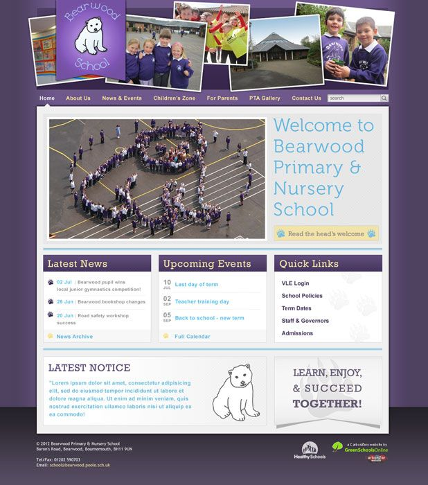 Bearwood Primary Schol website
