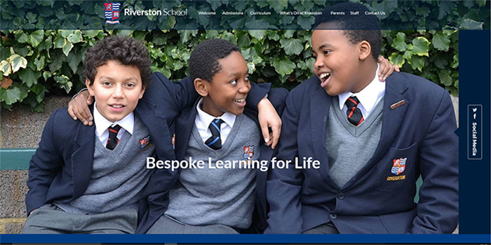The Riverston School Website Design