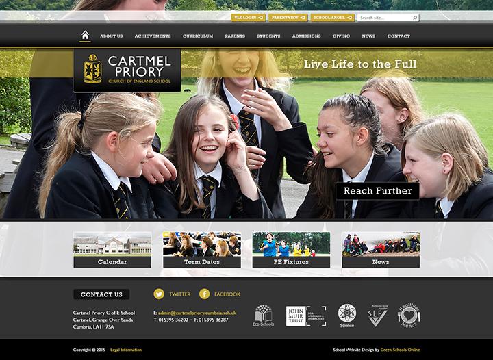 Cartmel Priory Website Design