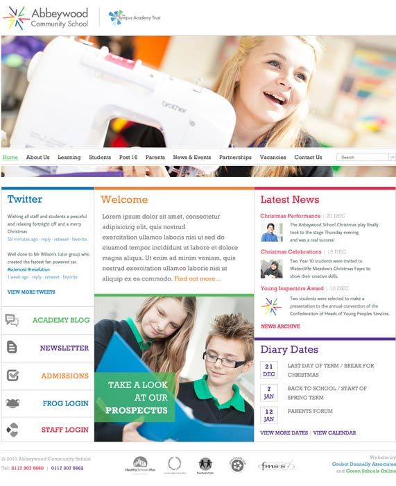 Enlarge Abbeywood School website design