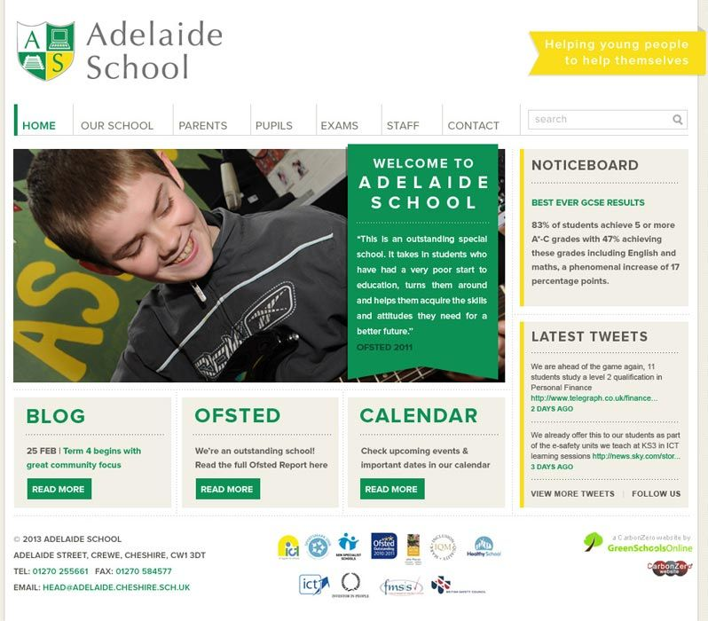 Enlarge Adelaide School website design