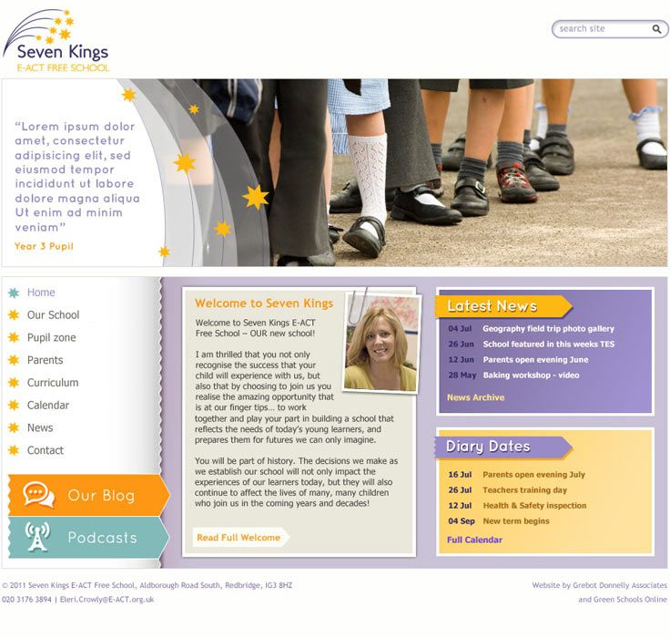 Enlarge Aldborough E-Act Free School website design