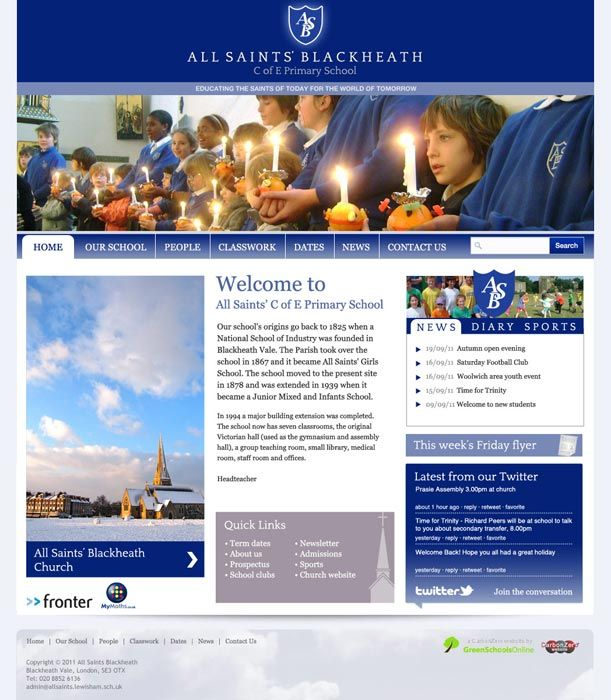 Enlarge All Saints Blackheath website design