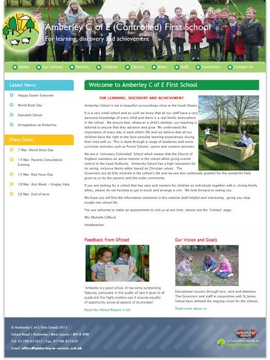 Enlarge Amberley website design