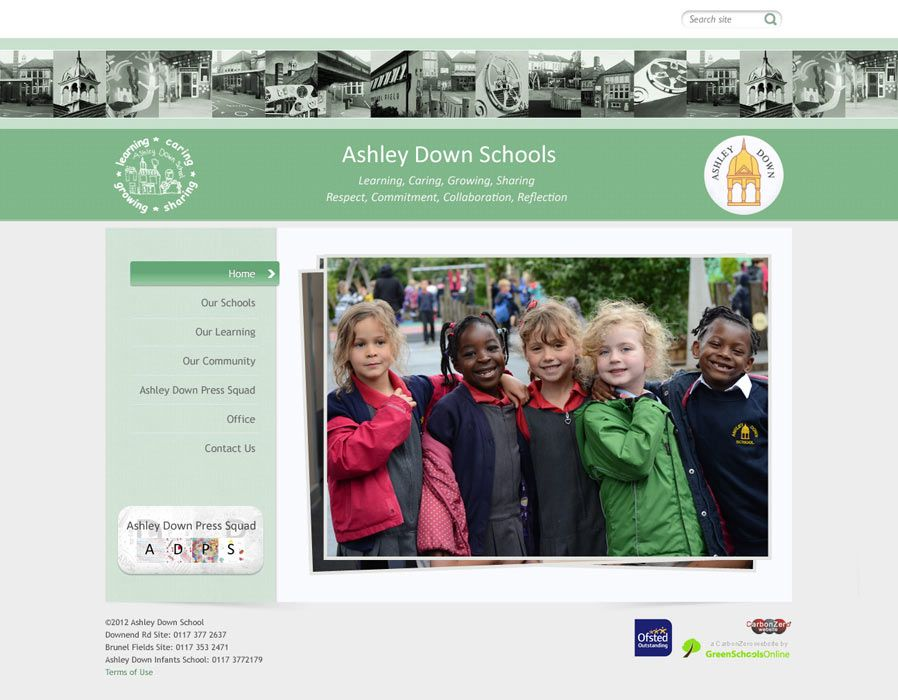 Enlarge Ashley Down Schools website design