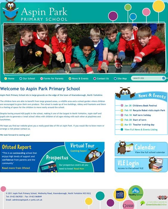 Enlarge Aspin Park School website design