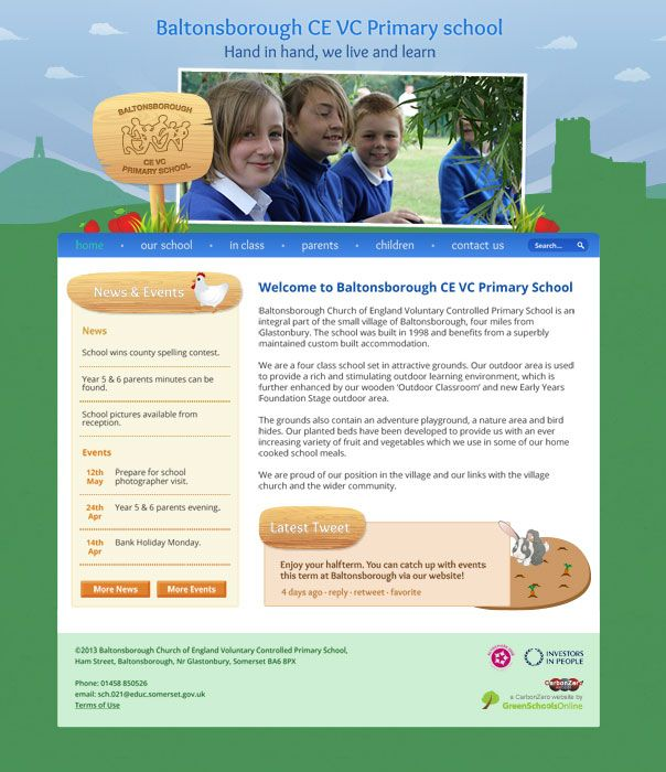 Enlarge Baltonsborough CE VC Primary School website design