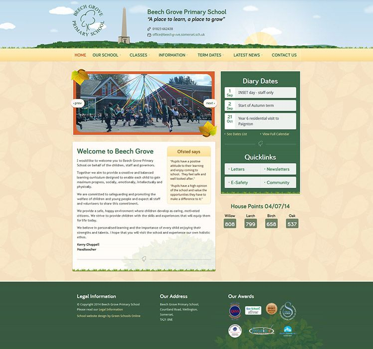 Enlarge Beech Grove Primary School website design