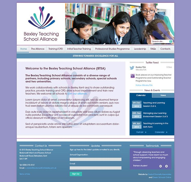 Enlarge Bexley Teaching School Alliance website design