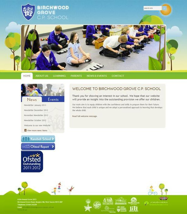 Enlarge Birchwood Grove website design