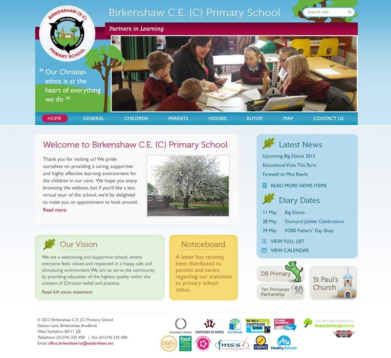 Enlarge Birkenshaw Primary website design