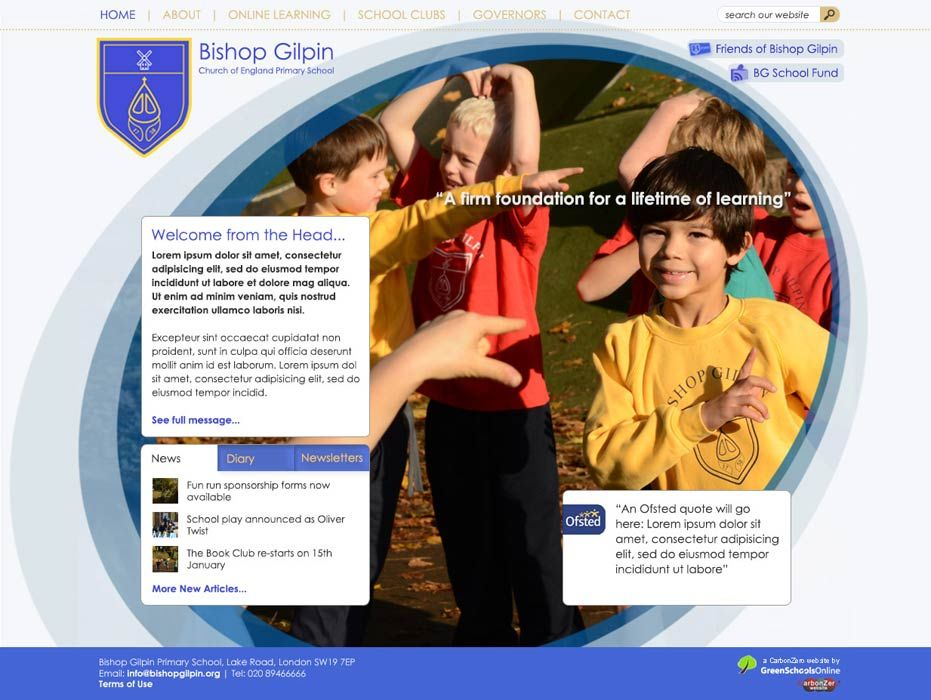 Enlarge Bishop Gilpin  website design
