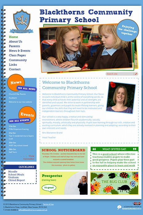 Enlarge Blackthorns Community Primary School website design