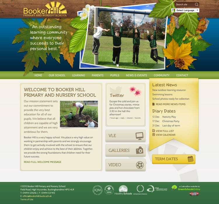 Enlarge Booker Hill website design