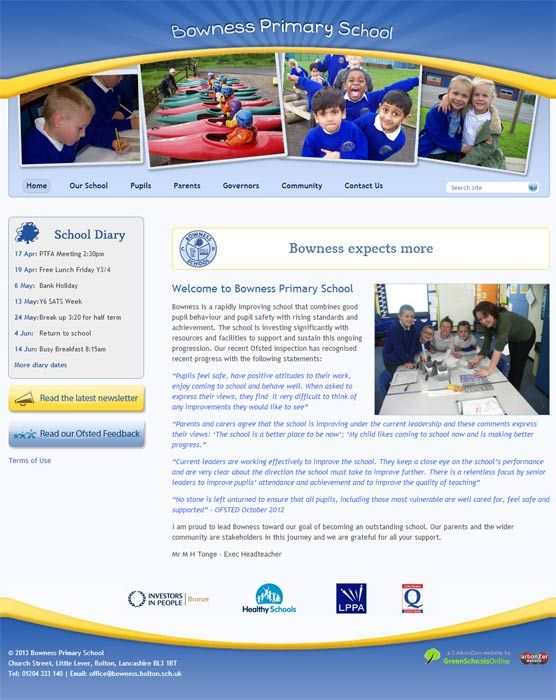 Enlarge Bowness Community Primary  website design