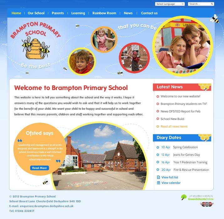 Enlarge Brampton Primary School website design