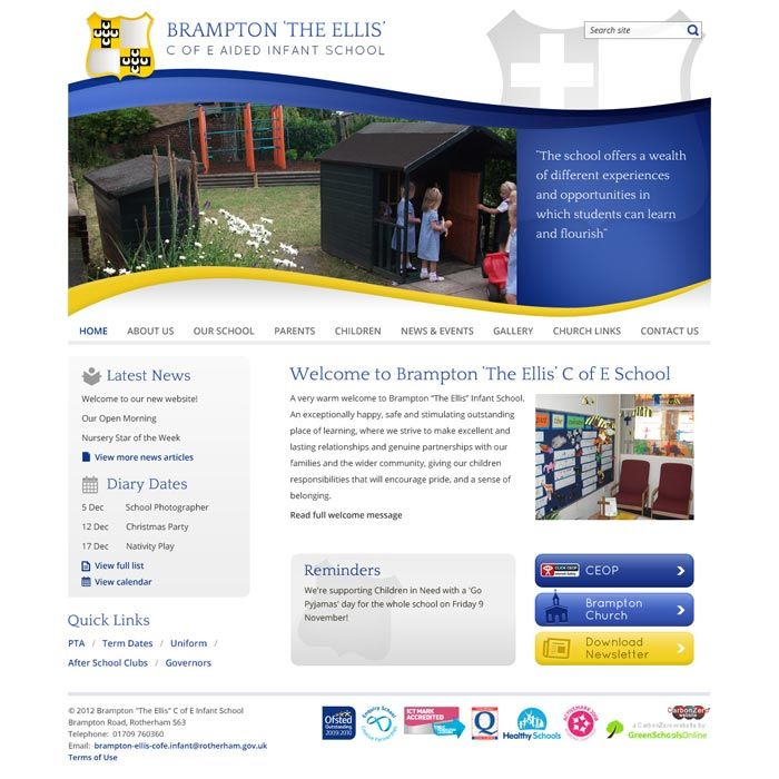 Enlarge Brampton  website design