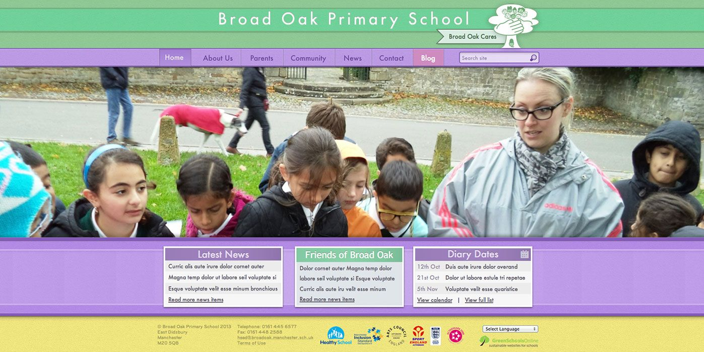Enlarge Broad Oak Primary School website design