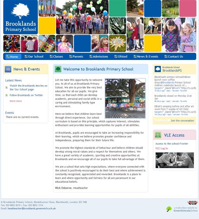 Enlarge Brooklands website design