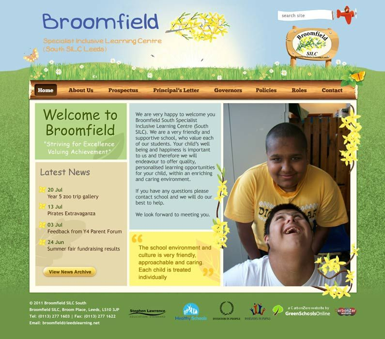 Enlarge Broomfield SILC website design