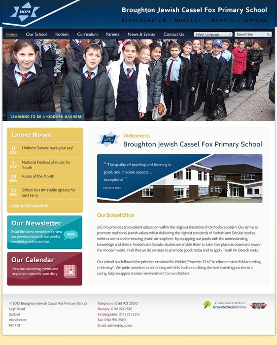 Enlarge Broughton Jewish Cassel Fox website design