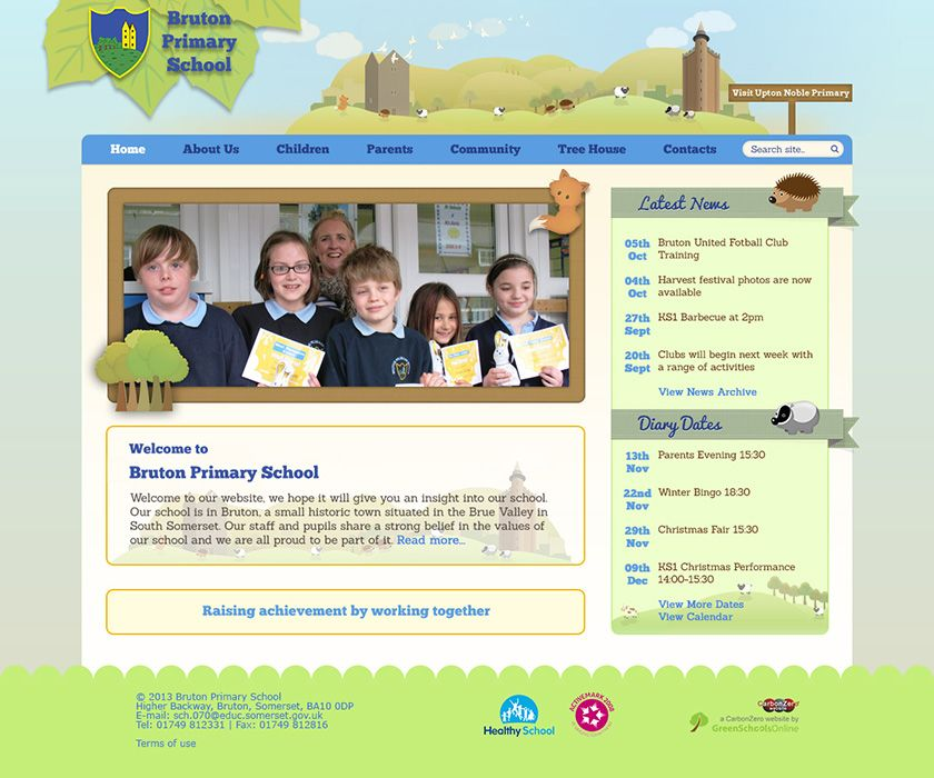 Enlarge Bruton Primary School website design