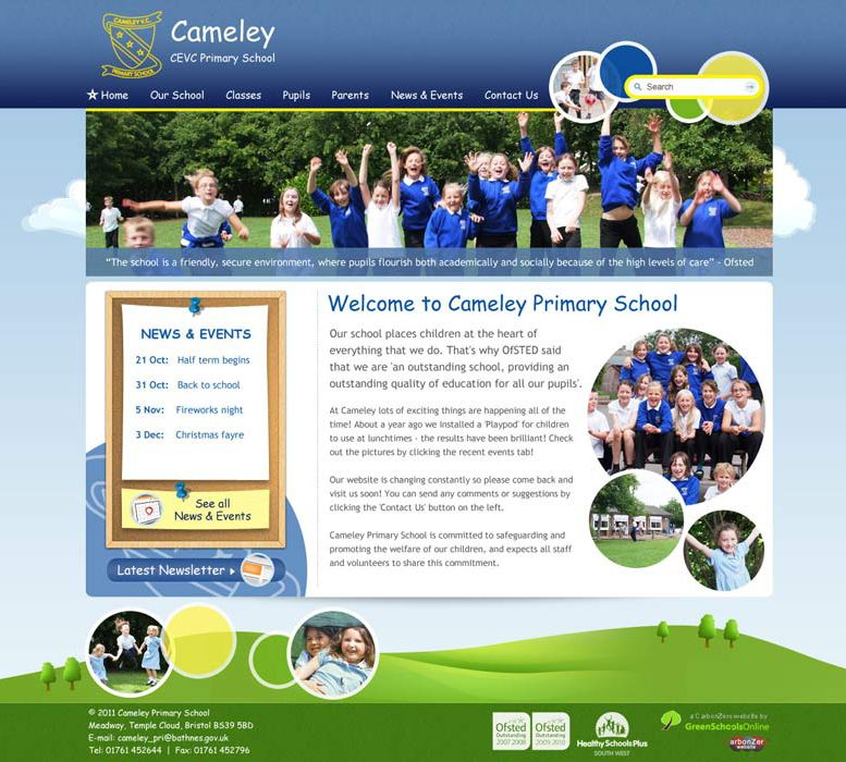 Enlarge Cameley CEVC Primary School website design