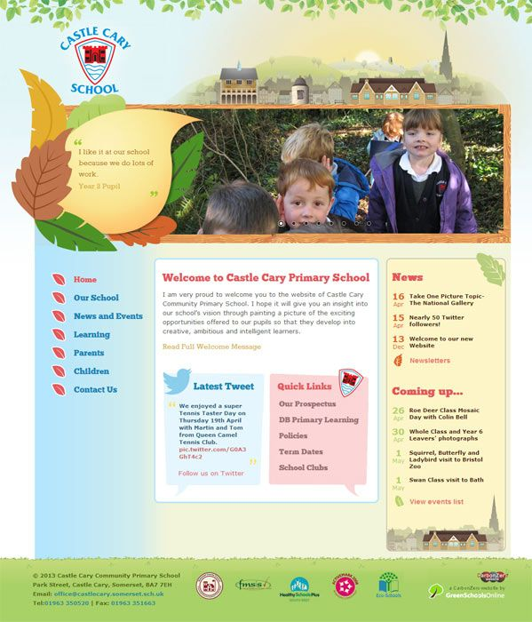 Enlarge Castle Cary website design