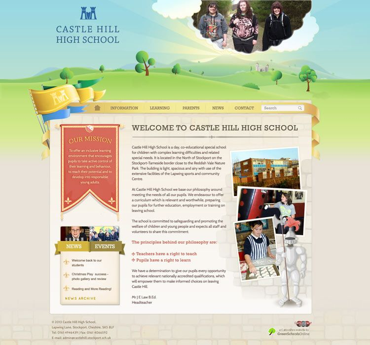 Enlarge Castle Hill High School website design