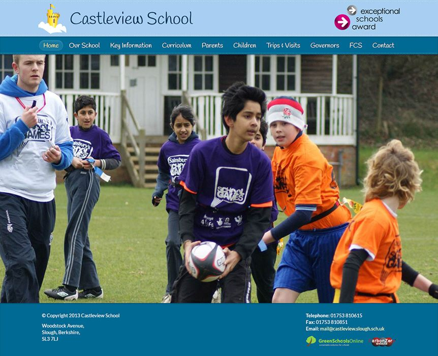 Enlarge Castleview School website design