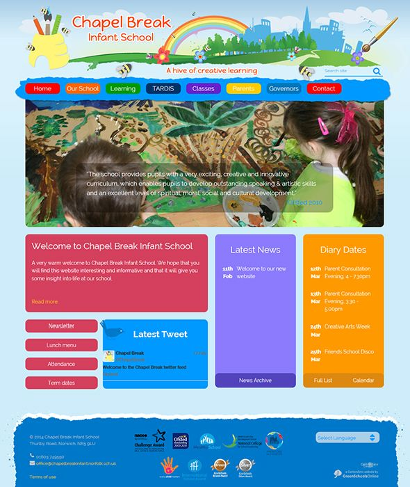 Enlarge Chapel Break Infant School website design