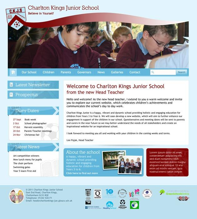 Enlarge Charlton Kings Junior School website design