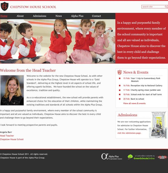Enlarge Chepstow House website design