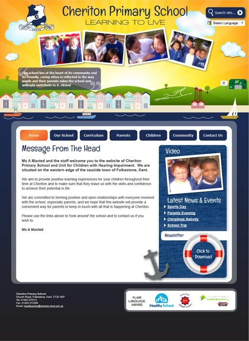 Enlarge Cheriton Primary School website design