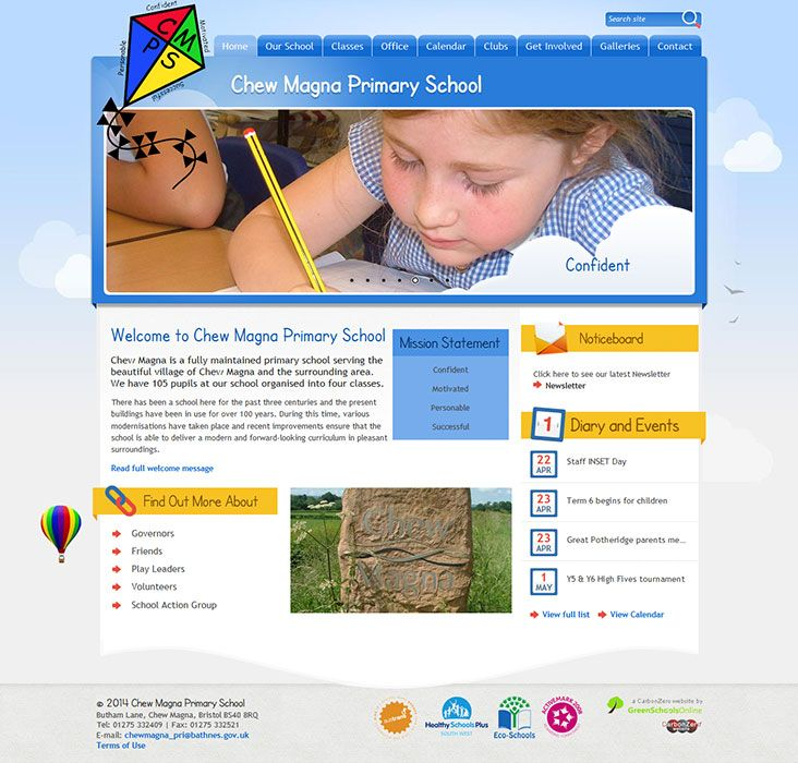 Enlarge Chew Magna Primary School website design