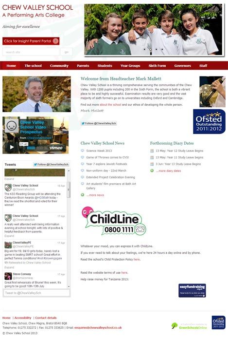 Enlarge Chew Valley website design