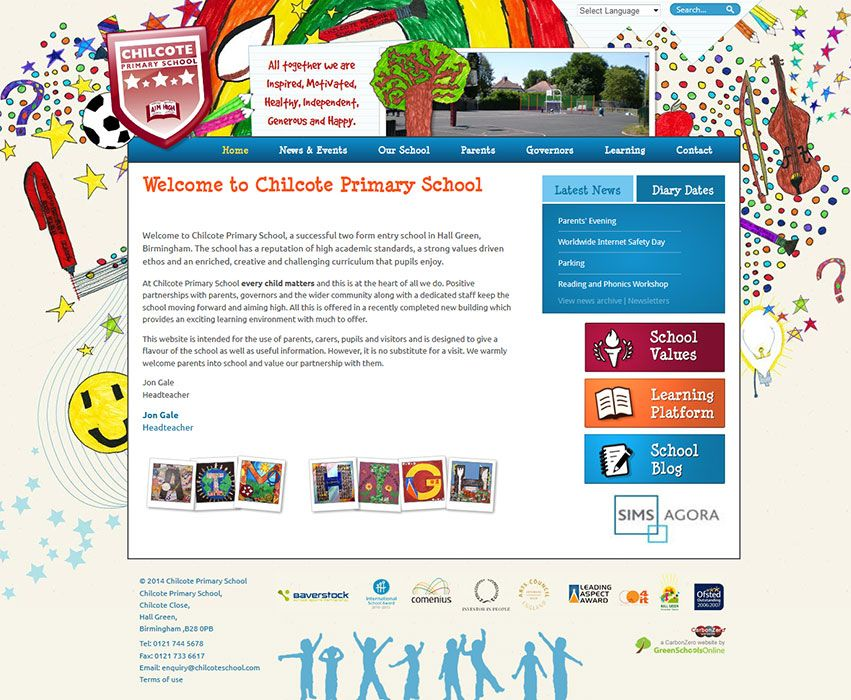 Enlarge Chilcote Primary School website design