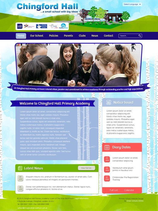 Enlarge Chingford Hall Primary Academy website design