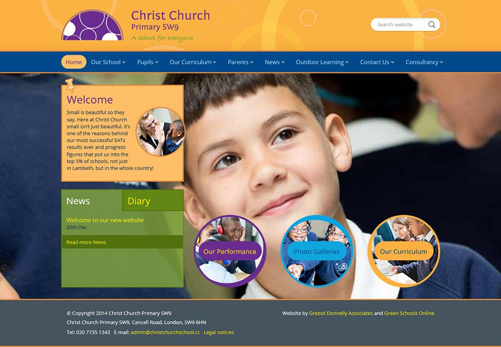 Enlarge Christ Church Primary website design