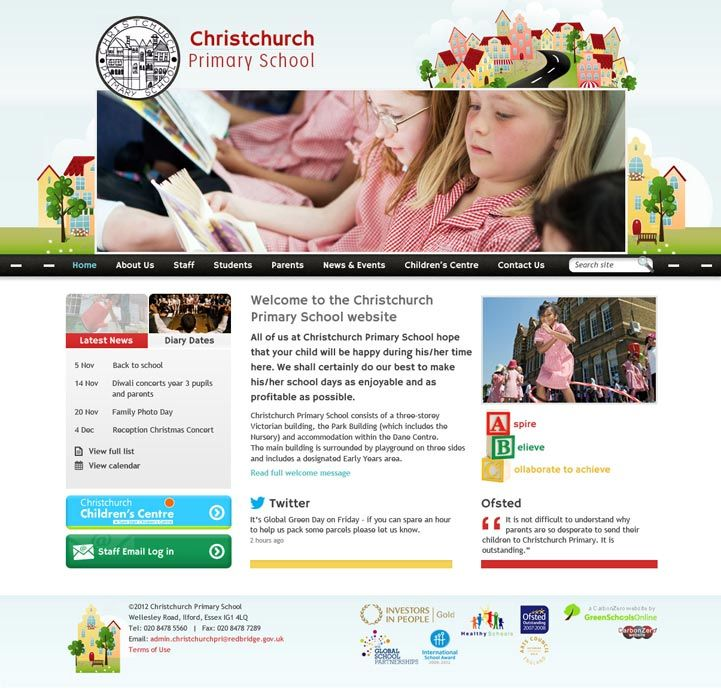 Enlarge Christchurch Primary School website design