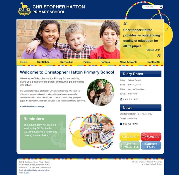 Enlarge Christopher Hatton website design