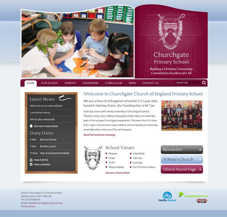 Enlarge Churchgate website design