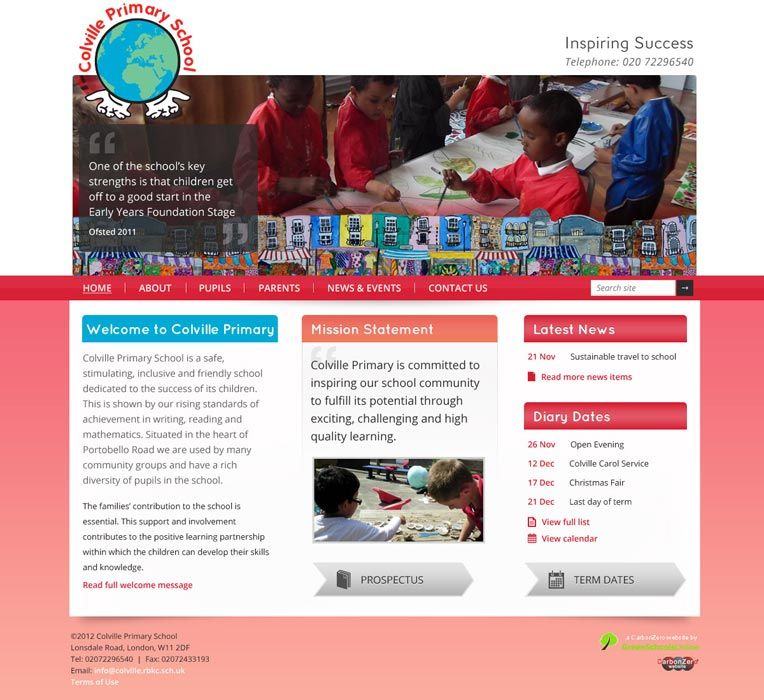 Enlarge Colville Primary School website design