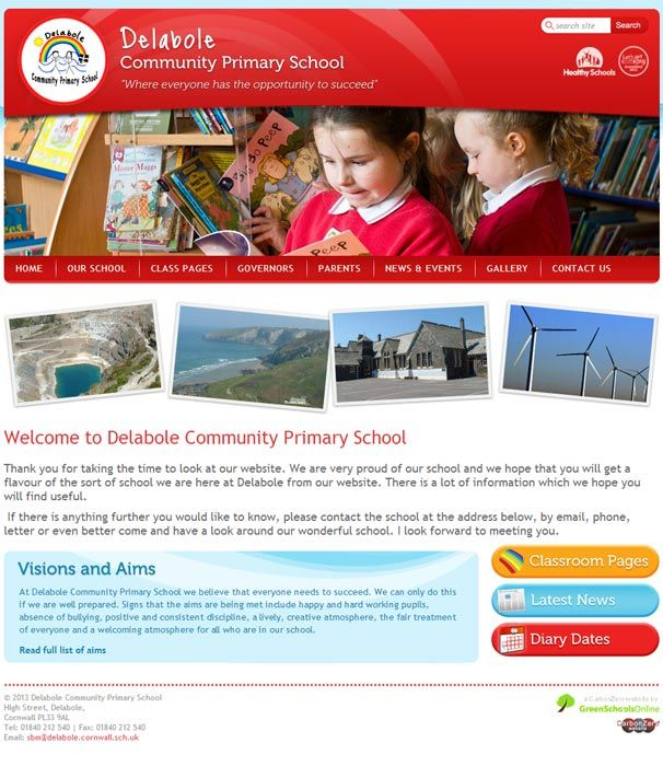 Enlarge Delabole Community Primary  website design