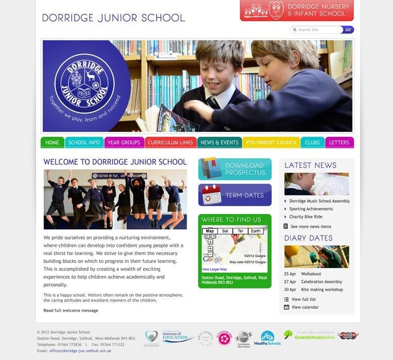 Enlarge Dorridge Junior School website design