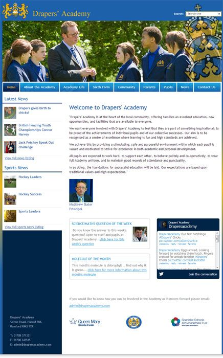 Enlarge Draper's Academy website design