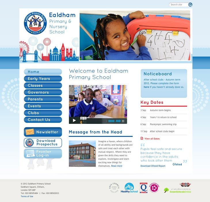 Enlarge Ealdham website design