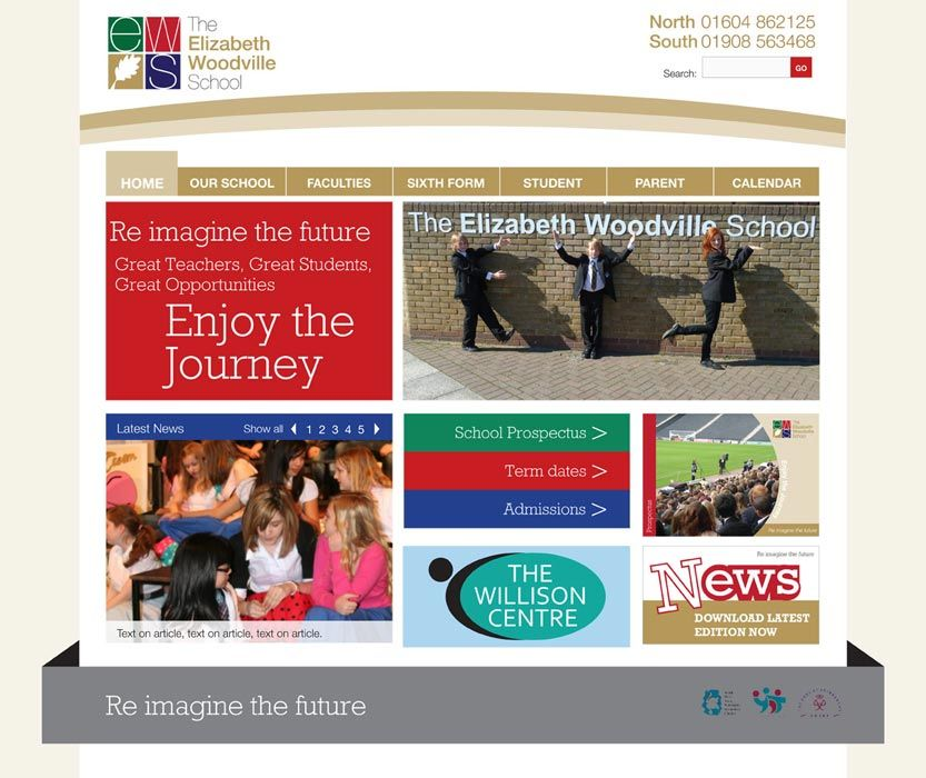 Enlarge Elizabeth Woodville School website design