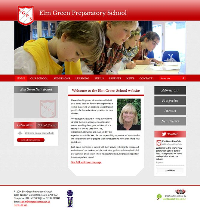Enlarge Elm Green Preparatory School website design