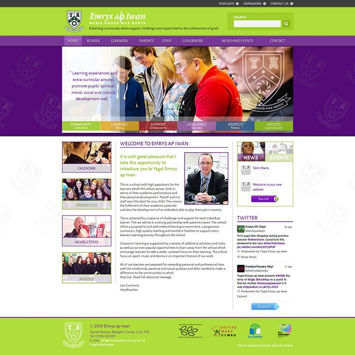 Enlarge Emrys ap Iwan website design